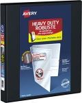 Avery Heavy Duty View 3 Ring Binder, 1 Inch, Black, 4 Pockets