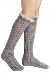 80% off Lace Trim Wool Knitted Crochet Long Socks!