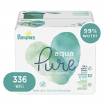 Pampers Aqua Pure 6X Baby Wipes, 336 count