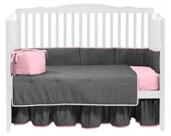 Solid Reversible Crib Bedding Set from BabyDoll