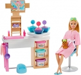 Barbie Face Mask Spa Day Playset with Blonde Barbie Doll