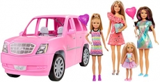Barbie Playset with 4 Sister Dolls and Limo