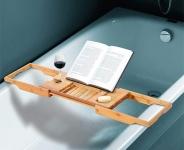 HOMCOM Bamboo Bathtub Caddy