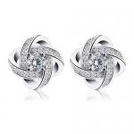 B.Catcher Earrings for Woman Silver Earrings Studs Cubic Zirconia Gemini Sets