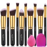 BEAKEY Makeup Brush Set with Blender Sponge and Brush Egg