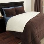 Bedford Home 2-Piece Sherpa/Fleece Comforter Set, Twin