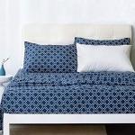 Bedsure Quatrefoil Printed Bed Queen Sheet Set