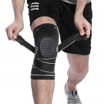 Berter Knee Support with Non-slip Adjustable Pressure Strap for Men Women