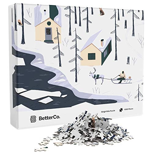 Better Co. Sleigh Ride Winter Snow Puzzle, 1000 Pieces