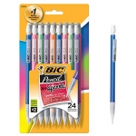 Bic Matic Shimmers Mechanical Pencils, Black, 24-Pack