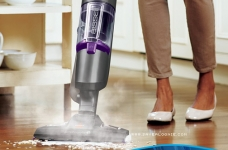Bissell 1543E Symphony Pet All-in-One Vacuum and Steam Mop, Grey/Purple