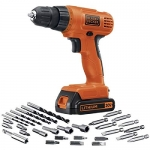 BLACK + DECKER 20-Volt Max Lithium-Ion Drill/Driver with 30 Accessories