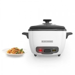 BLACK+DECKER 2-in-1 Rice Cooker and Food Steamer, 16 Cup