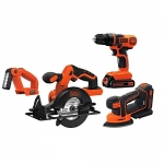 BLACK+DECKER 20V MAX Lithiuim Ion 4 Tool Combo Kit