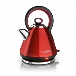 BLACK+DECKER Electric Cordless Kettle, Red Stainless Steel