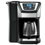 BLACK+DECKER Programmable Mill & Brew Coffeemaker with Built-In Grinder, 12 Cup
