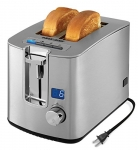 BLACK+DECKER Toaster with Digital Countdown Timer, 2 Slice