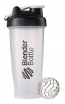 BlenderBottle Classic Loop Top Shaker Bottle, Clear Black, 28-Ounce