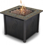Bond Rockwell Gas Fire Table, 30-Inch