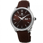 Bruno Magli Men's Luca Swiss Quartz Watch with Dark Brown Italian Leather Strap