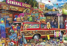 Buffalo Games Family Vacation by Aimee Stewart Puzzle (2000 Piece)
