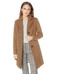 Calvin Klein Womens Classic Cashmere Wool Blend Coat Wool Blend Coat