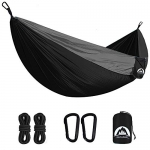 2 Person Nylon Camping Hammock with Tree Straps