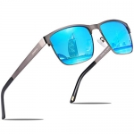 CARFIA Metal Mens Sunglasses Polarized UV Protection