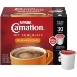 Carnation Hot Chocolate, Rich and Creamy, Keurig K-Cup Compatible Pods, 30 count