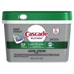 Cascade Platinum ActionPacs Dishwasher Detergent, Fresh Scent, 39 count
