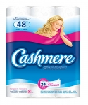 Cashmere Double Roll Bathroom Tissue, 2-ply, 253 Sheets per Roll – 24 Rolls