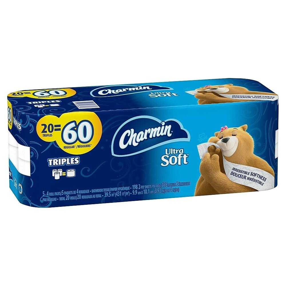 Charmin Ultra Soft Bathroom Tissue, 20 = 60 Pack