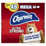 Charmin Ultra Strong Toilet Paper, 12 Mega Rolls