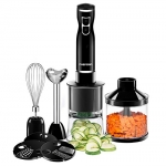 Chefman Immersion Blender & Electric Spiralizer/Vegetable Slicer 6-in-1 Food Prep Kit