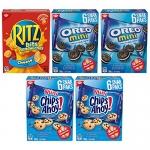 Christie Mini Cookie & Cracker Variety Snack Pack, 5 Packs, 900 G