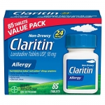 Claritin Allergy Medicine, 24-Hour Non-Drowsy Relief 10 mg, 85 Tablets