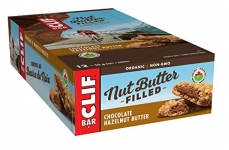 CLIF Nut Butter Filled – Organic Energy Bar – Chocolate Hazelnut Butter – (50 Gram Protein Snack Bar, 12 Count)