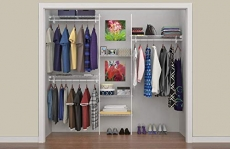 ClosetMaid SuperSlide 5ft. to 8ft. Closet Organizer Kit, White