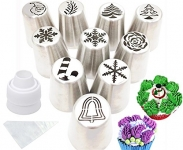 Cofe-BY Icing Piping Tips set Christmas Design for Cakes Cupcakes Cookies – 21pcs set