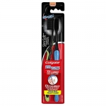 Colgate Slim Soft Toothbrush with Charcoal, 2 Count