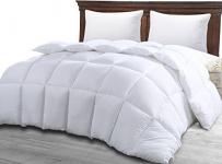 Comforter Duvet Insert White – Quilted Comforter with Corner Tabs Queen