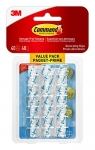 Command 17026CLRC-VP Decorating Clip Value Pack, Mini, Clear, 40 Clips 48 Mini Strips