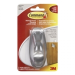 Command 17063BN-C Timeless Hook, Large, Brushed Nickel, 1 Hook 2 Large Strips