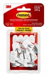 Command Wire Hooks Value Pack, Small, White