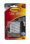 Command Cord Organizers, Large, Clear