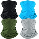 Cooling Neck Gaiter Face Cover (4 pack)