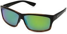Costa del Mar Cut Polarized Iridium Square Sunglasses, Coconut Fade, 60.6 mm