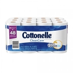 Cottonelle Clean Care Double Roll Toilet Paper, 24 Count