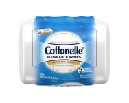Cottonelle Flushable Wet Wipes Tub, 42 Wipes