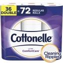 Cottonelle Ultra ComfortCare Toilet Paper, 36 Double Rolls